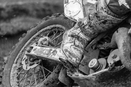 Closeup of a motocross bike photo