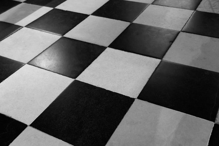 I usually old black and white checkered Foto de archivo