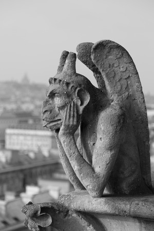 is well known: One of Notre Dame s well known chimera statues, Paris France