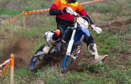 super cross: Motocross carreras de motos de calle en la monta�a