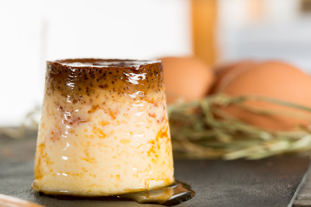 whim: Hand crafted homemade custard with eggs and fresh milk