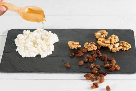 cobnut: Hand crafted cheese with nuts and homemade honey