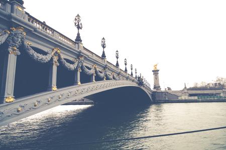 alexandre: Alexandre III bridge and underneath the river Seine, Paris