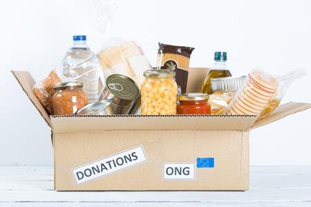 jedzenie: Sprzyjający obudowy lub darowizny żywności dla ubogich