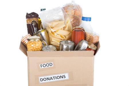Unterstützgehäuse oder Lebensmittelspende für die Armen