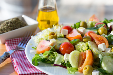 escarole: Mediterranean salad with fresh and healthy ingredients Stock Photo