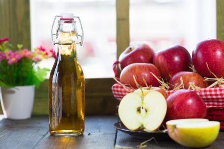 cider: Apple cider vinegar with a fresh apple