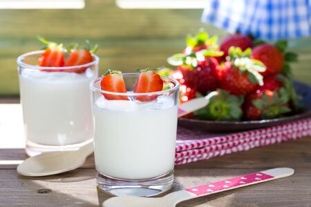moles: Yogurt and householder with delicious chunks of strawberries
