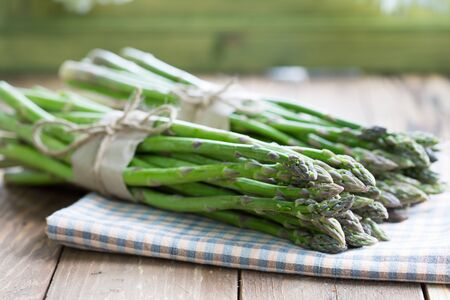 bunches: Two bunches of asparagus green asparagus Stock Photo