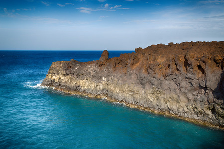 Rocky landscape of the island of Lanzarote, Canary Islands, Spain