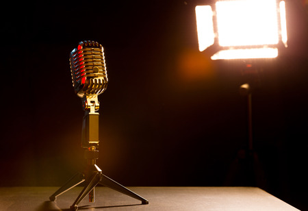 Microphone for shows with black stage background