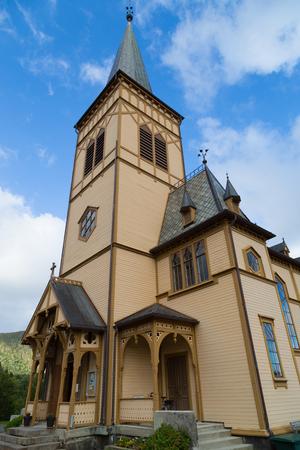 Cathedral of Vagan kirke  Lofotkatedralen, Norway Stock Photo