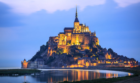 Le Mont Saint Michel, an UNESCO world heritage site in France Editorial