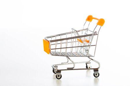 Empty shopping cart with white background Standard-Bild