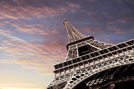 View of the Eiffel Tower, Paris France