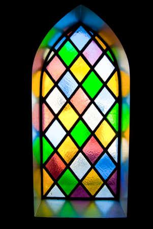 material de vidrio: vidriera de cristal coloreado