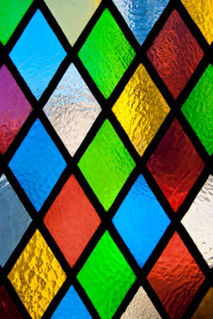 stained glass church: stained glass window of colored glass