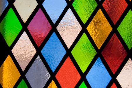 着色されたガラスのステンド グラスの窓 写真素材