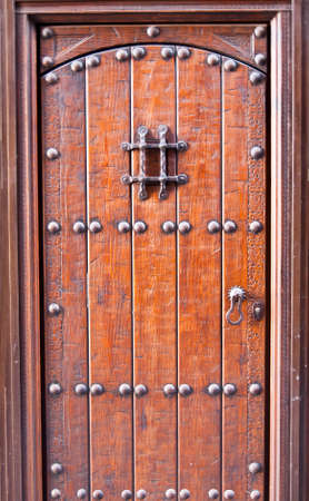 rugged: rugged and reliable old wooden door