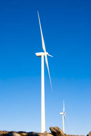 kinetic energy: Wind turbine (wind power plant) - a device for converting the kinetic energy of wind into electrical energy.