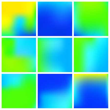 Stylish, fascinating psychedelic design. Vector illustration cover. Random splash and spreading spot. Blue unique vector texture of gradient colors.