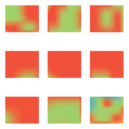 Stylish, fascinating psychedelic design. Magic splash and spreading spot. Vector illustration invite. Red unique vector texture of gradient colors.