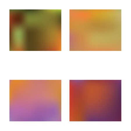 Soft color gradient background. Vector illustration elements. Dynamic backdrop with bright rainbow colors. Orange colored, natural screen design for user interface or mobile app.