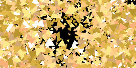 Beautiful shiny falling triangles. Vector illustration object. Vintage design elements. Gold colored geometric confetti festive happy chaotic decor.