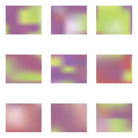 Bright blurred graphics from various combinations of colors and shades. Vector illustration concept. Startling splash and spreading spot. Violet color spots that form a bright blurred graphics.