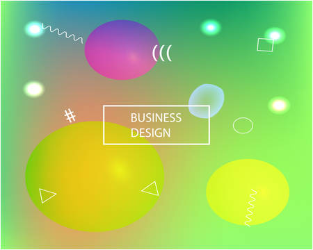 Trendy modern abstract background. Simple backdrop with bright rainbow colors. Vector illustration flyer. Green elegant and easy editable smooth banner template. Ilustracja