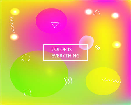 Trendy modern abstract background. Creative backdrop with bright rainbow colors. Vector illustration elements. Pink elegant and easy editable smooth banner template.