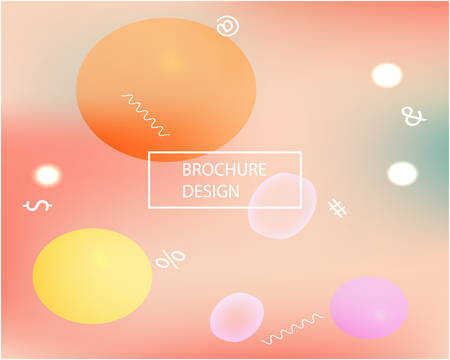 Abstract blurred background for your projects. Vector illustration space. Light backdrop with bright rainbow colors. Pink celebration template for your graphic design, user interface or app.