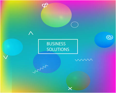 Smooth gradient mesh background. Vector illustration texture. Dynamic backdrop with bright rainbow colors. Blue modern abstract backdrop for mobile app and user interface.