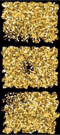 beautiful colored falling circles. Vector illustration space. Decorative element of design. Gold set of colored round confetti festive happy chaotic decor.