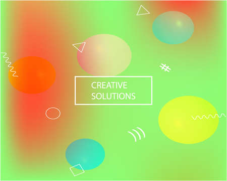 Smooth gradient mesh background. Dynamic backdrop with bright rainbow colors. Vector illustration concept. Green modern abstract backdrop for mobile app and user interface. Archivio Fotografico - 129233106