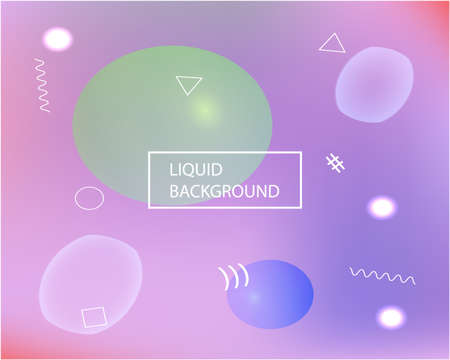 Modern blurry smooth background. Fluid backdrop with simple muffled colors. Vector illustration art. Violet fluid colorful shapes for poster, presentation and banner.