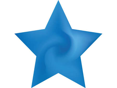 Modern background in the form of pentagram. Popular style of 90th, 80th. Trendy soft color effect. Blue fluid colorful gradient shape for your mobile app and screens. Иллюстрация