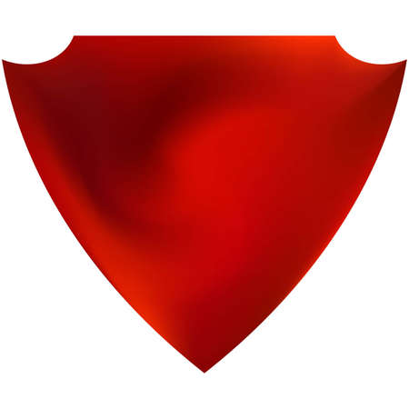 Gradient background in the form of a shield. Simple backdrop in a style of 80th. Soft color theme. Red modern, natural cover for your creative projects and graphic design.