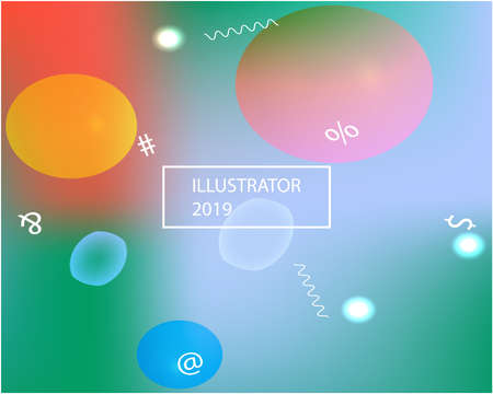 New abstract colourful background. Vector illustration flyer. Light backdrop with simple muffled colors. Orange trendy soft blurred colors and elegant smooth blend.