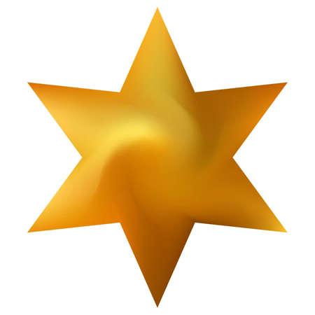 Chromatic background in the form of hexagram. Trendy soft color art. Geometric sacred religious symbol. Orange effective modern screen design for brochure, calendar, cards or invitation. Иллюстрация