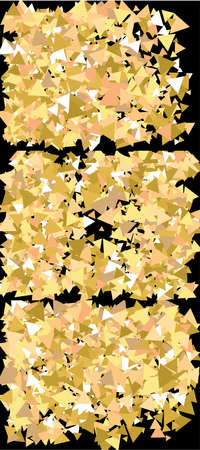 Golden confetti on black background. Vector illustration object. Graphic design elements. Gold luxury festive decoration set for holidays and celebrations.