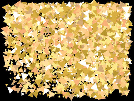 Golden confetti on black background. Vector illustration object. Decorative design elements. Gold luxury festive decoration for holidays and celebrations.