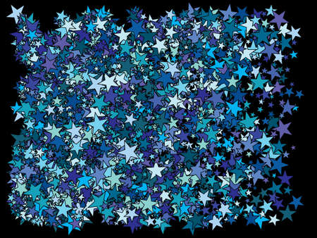 Luxury festive abstract stars. Vibrant glitter design elements. Vector illustration poster. Blue bright modern chaotic texture for celebrations and holidays.