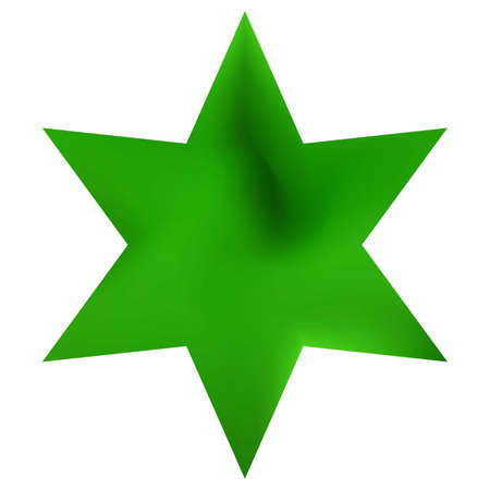 Chromatic background in the form of hexagram. Trendy soft color element. Decorative sacred religious symbol. Green effective modern screen design for brochure, calendar, cards or invitation.