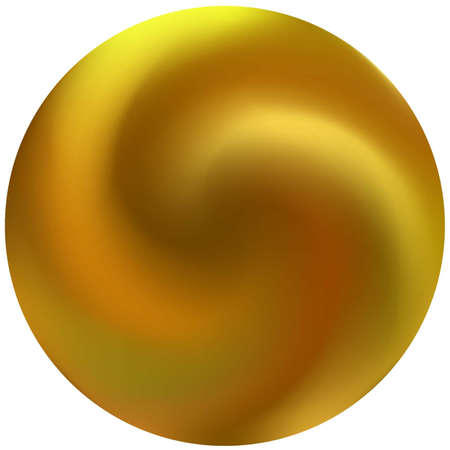 Modern round smooth background. Fashionable backdrop in style of 90th, 80th. Trendy soft color pearl. Yellow elegant and easy editable colorful fluid cover for your creative projects.