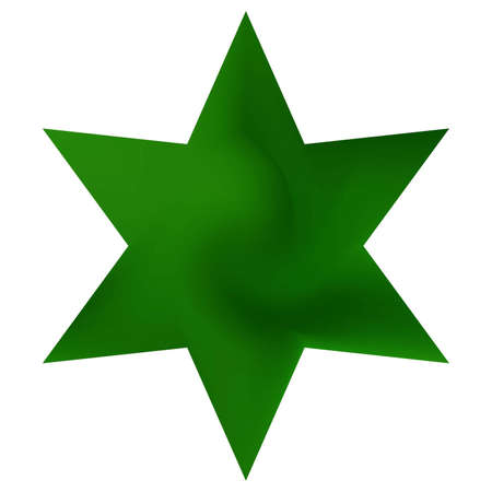 Smooth background in the form of hexagram. Trendy soft color art. Decorative sacred religious symbol. Green elegant and easy editable colorful fluid cover for your creative projects. Ilustrace