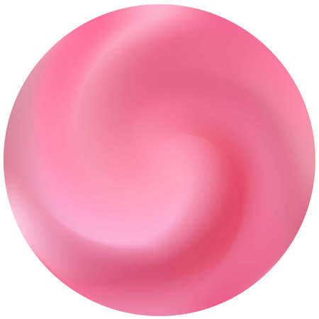 Round abstract colorful background. Flat backdrop in style of 90th, 80th. Trendy soft color theme. Pink elegant and effective, smooth blurred round gradient cover. Vectores