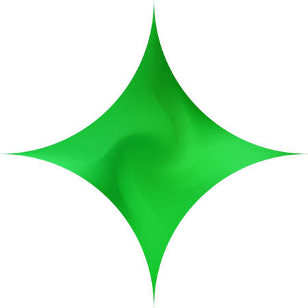 Diamond-shaped smooth background. Futuristic backdrop in style of 90th, 80th. Trendy soft color pastel. Green elegant and easy editable colorful fluid cover for your creative projects.