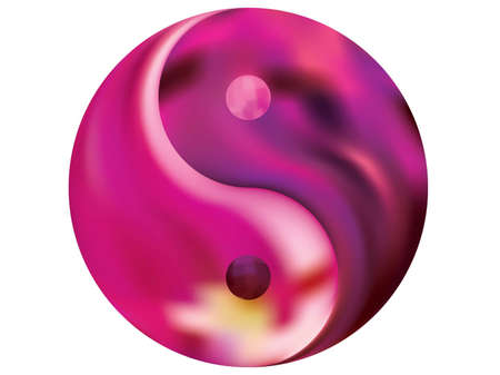Chromatic background in the form of yin yang. Trendy soft color art. Neon original liquid theme. Violet effective modern screen design for brochure, calendar, cards or invitation.