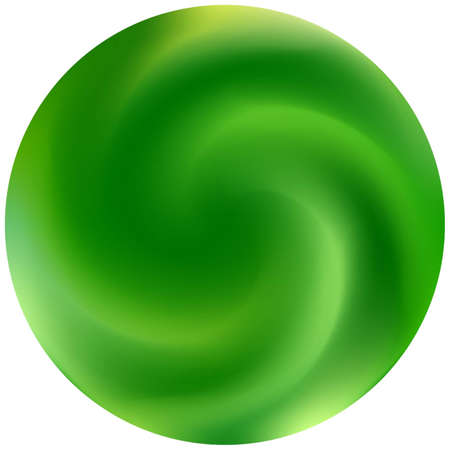 Modern round smooth background. Neon backdrop in style of 90th, 80th. Trendy soft color. Green elegant and easy editable colorful fluid cover for your creative projects.